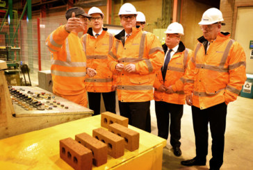 Prime Minister And Chancellor Visit Accrington Brickworks