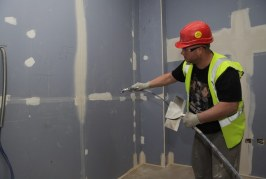 Roger Bisby Gets Plastered With Knauf