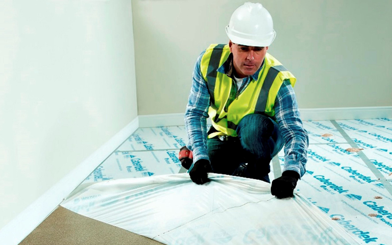 how to fix squeaky particle board floors