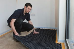 step-3-cover-the-floor-with-self-adhesive-castellated-panel