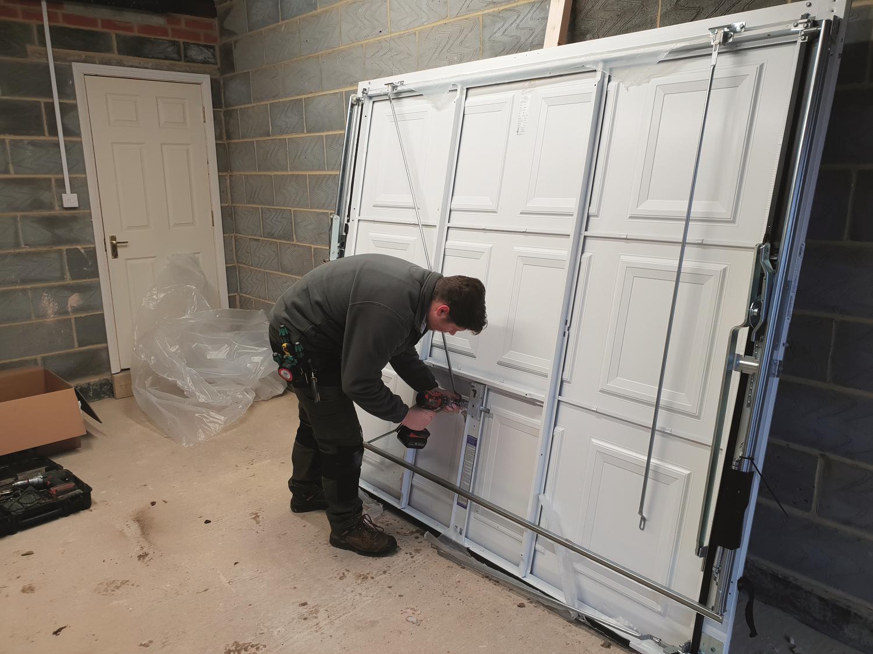 1. Unpack door for install