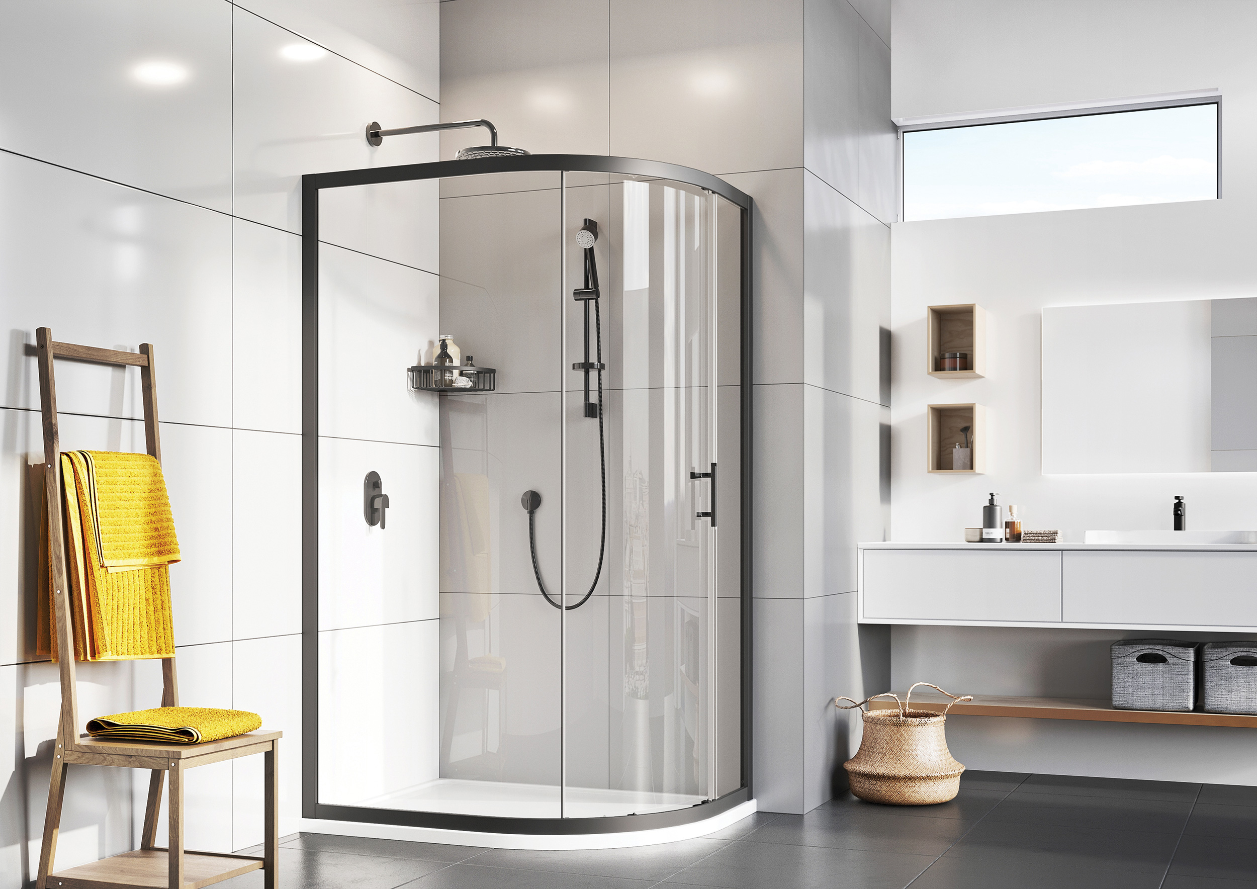 Easy installation with Roman's Fast Fix shower enclosure assembly