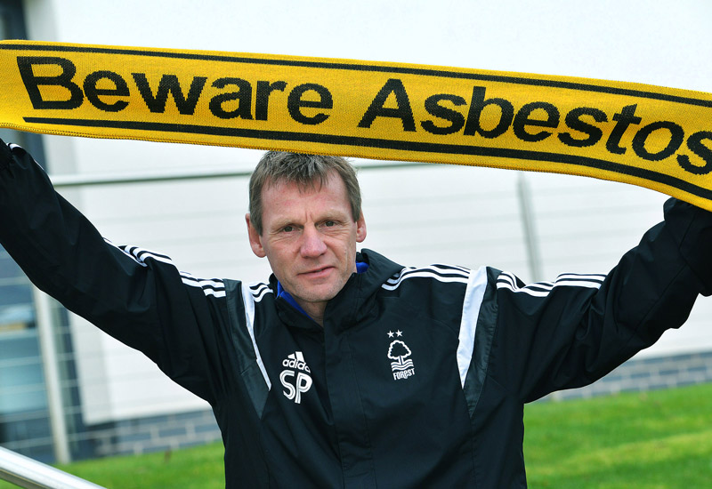 Stuart Pearce fears risk of deadly asbestos