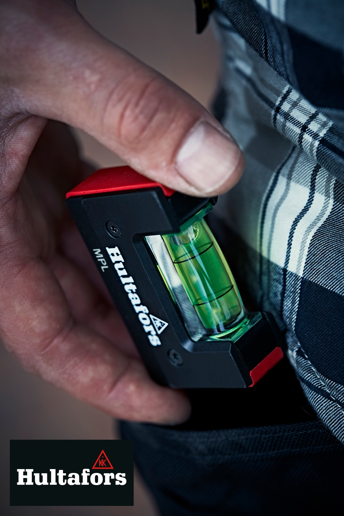 Pocket spirit level from Hultafors Tools