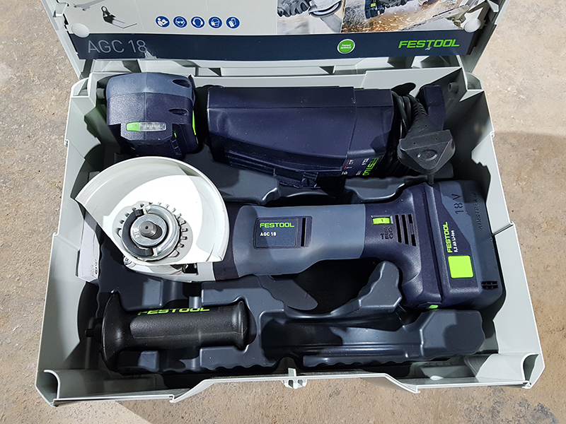 Review: Festool Cordless Angle Grinder AGC 18-125