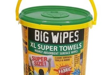 Pick up an XL tub of Big Wipes at Toolfair Coventry