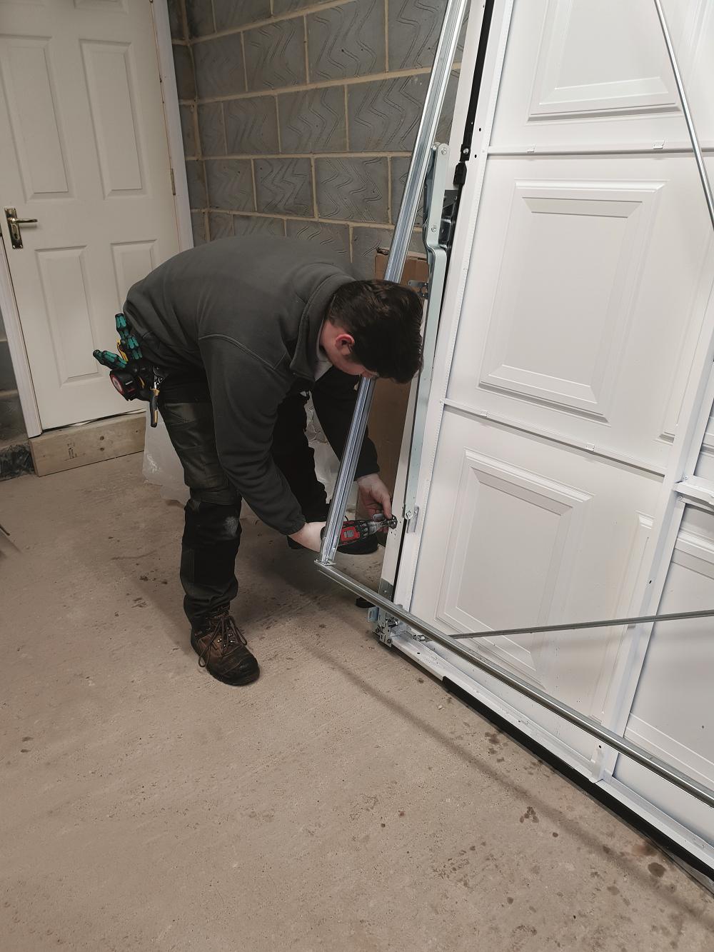 3. Preparing door fixing brackets