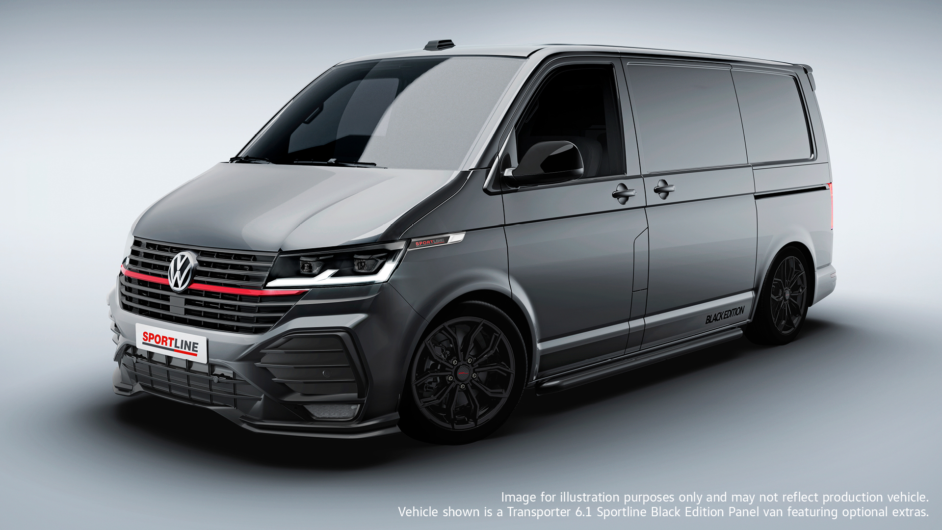 Volkswagen Commercial Vehicles unveils new Transporter T6.1 Sportline