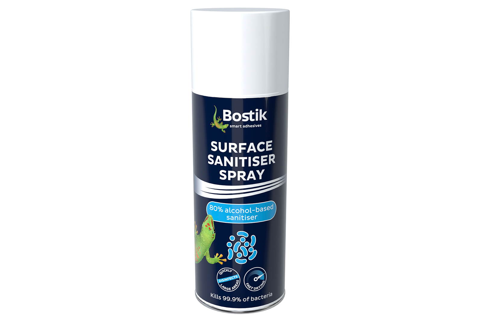 2×12 cans of Bostik surface sanitiser spray to give away