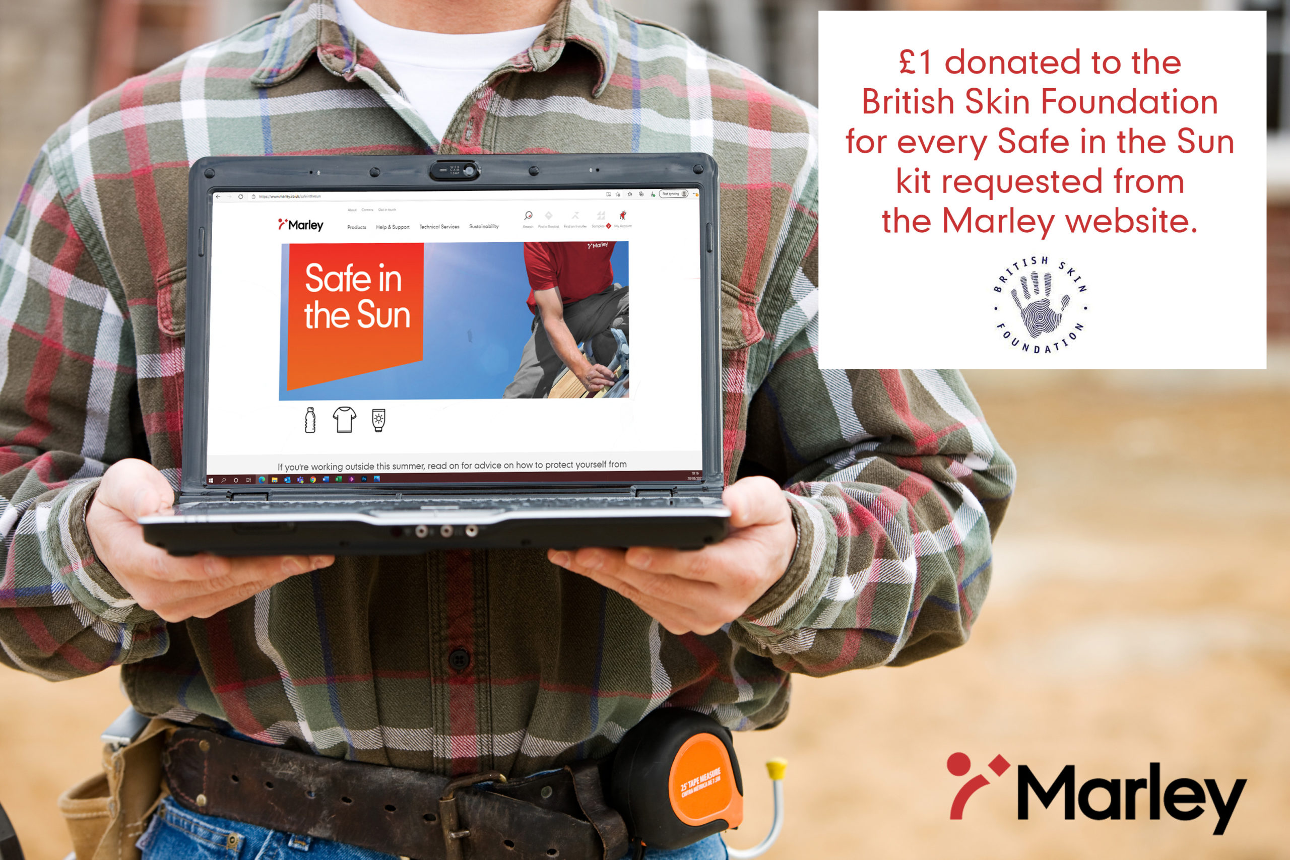 Marley's 'Safe In The Sun' campaign supports The British Skin Foundation