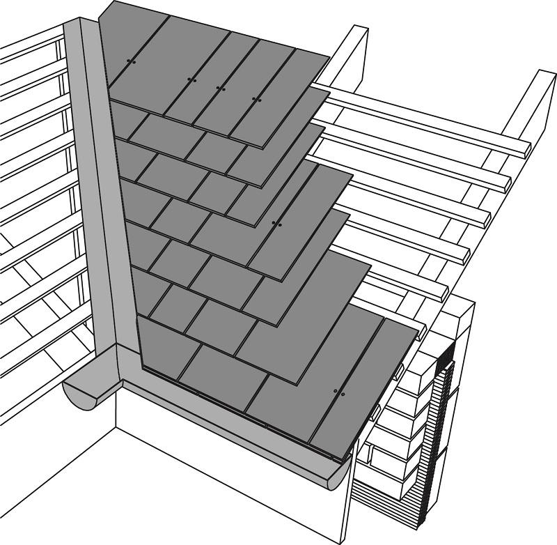 Metal Roof Stairs