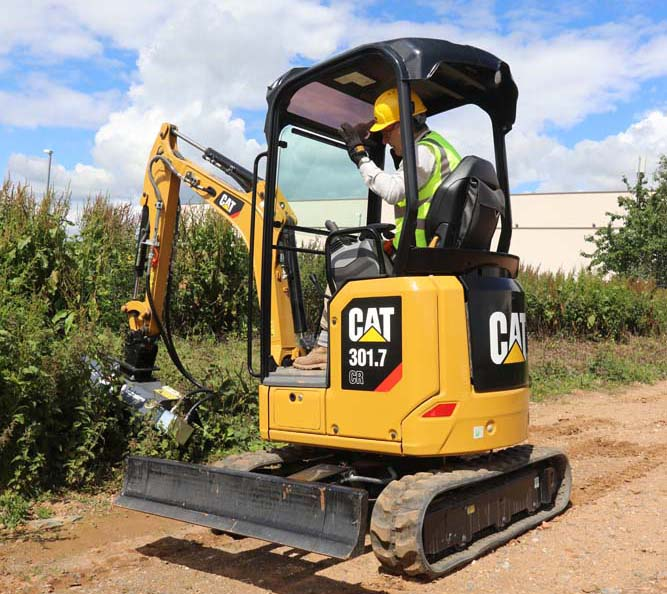 Mini excavator range from Caterpillar