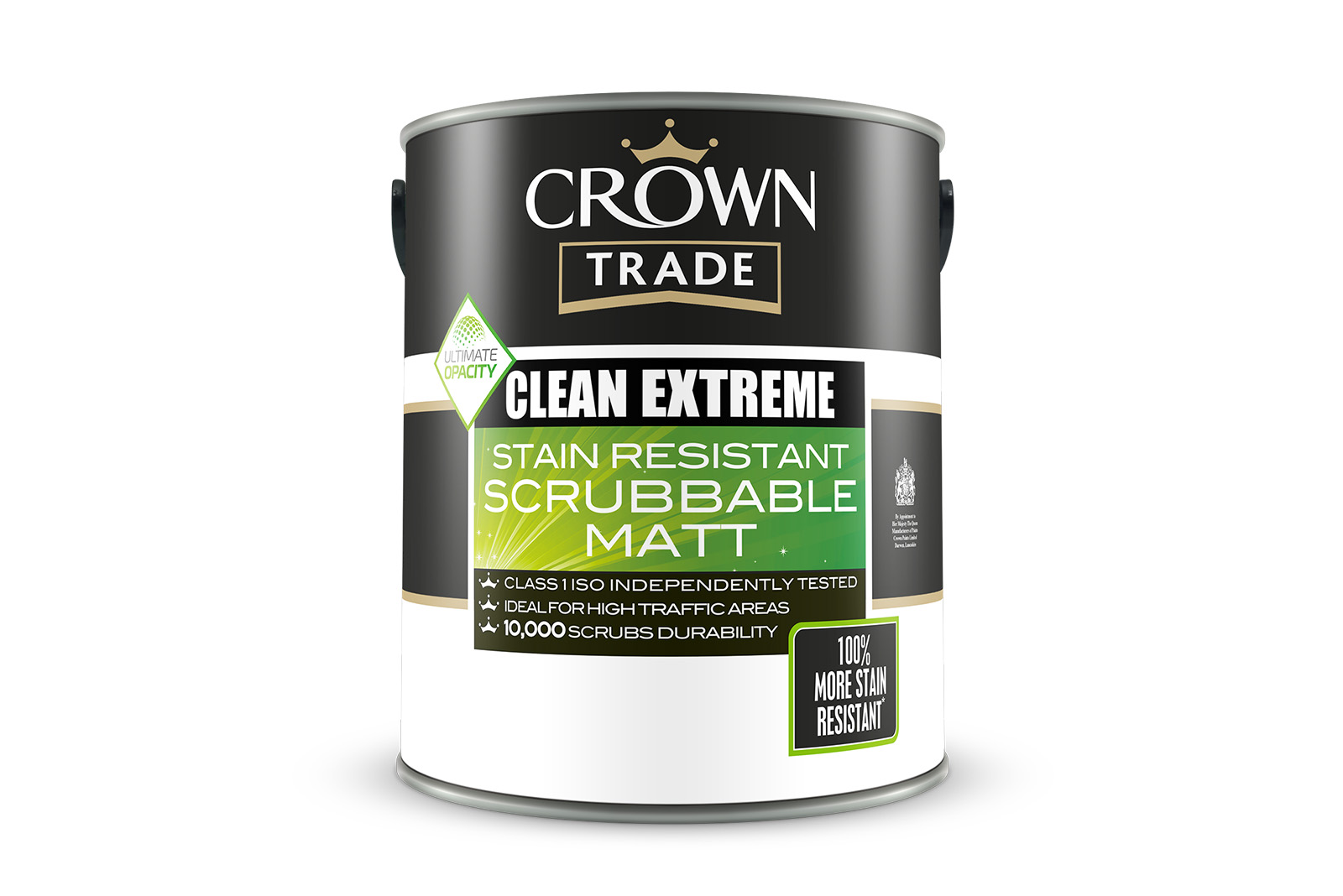 5 X 5L Crown Trade Paint Cans to win