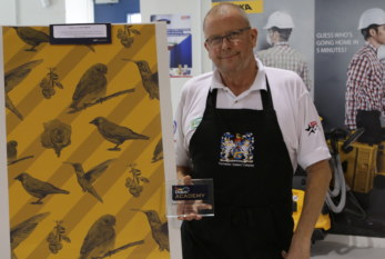 Stuart Yates is the Winner of Dulux Academy's Wallpapering Challenge