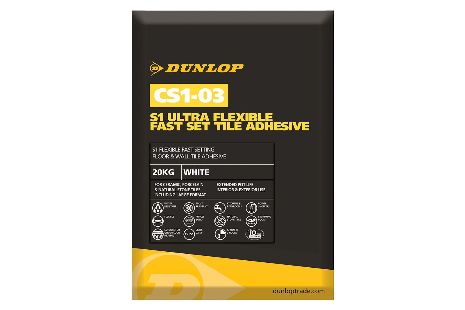 20 Bags of Dunlop's 20KG Adhesive to WIN