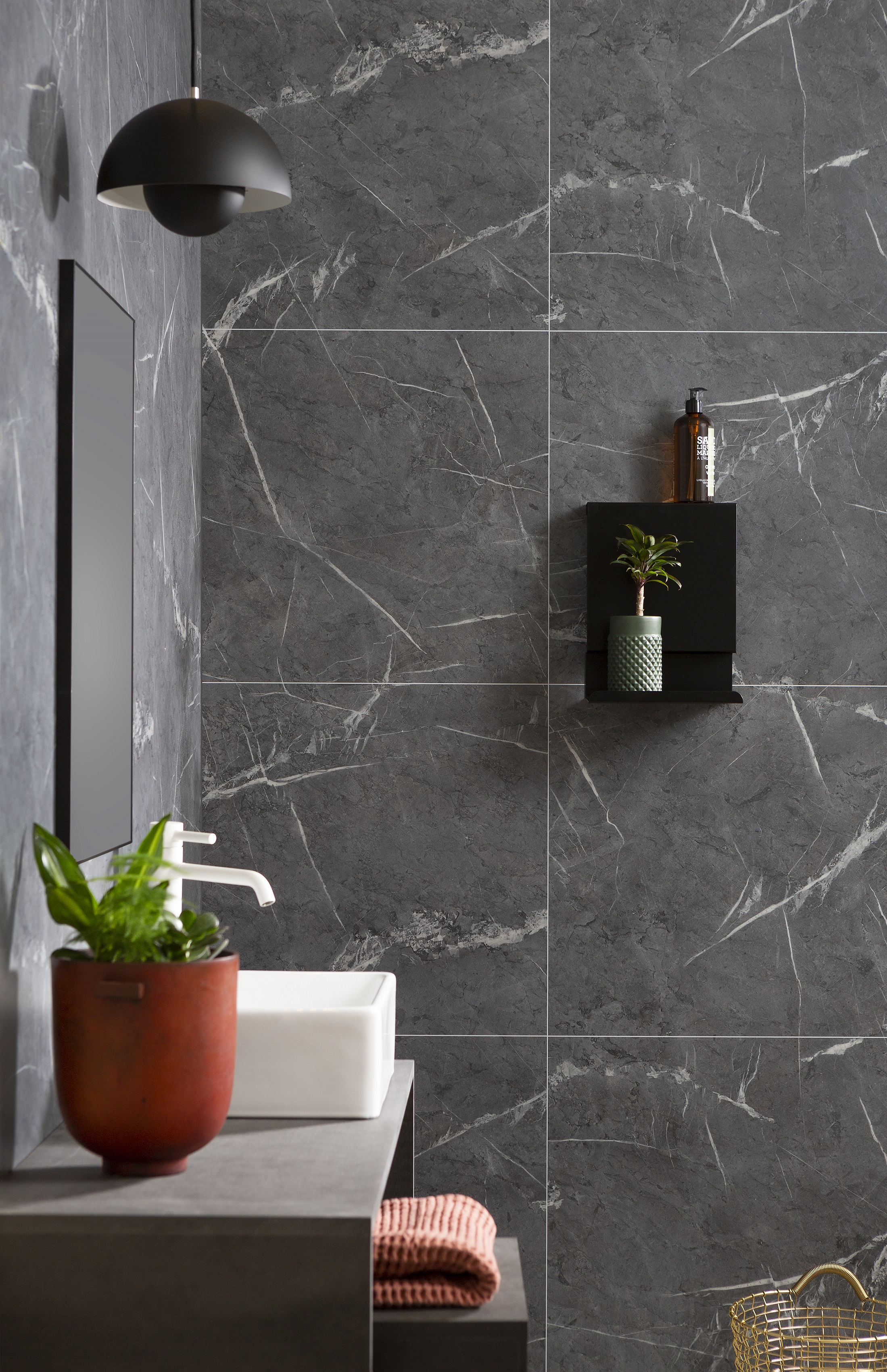 Fibo Black Marble wall panel
