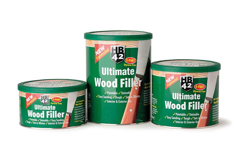 Styrene-free wood filler from Hilton Banks