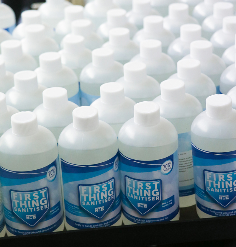 HMG Paints producing hand sanitiser for frontline workers