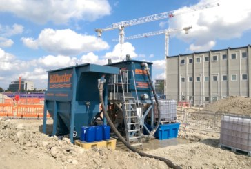 Managing excess water on new build sites