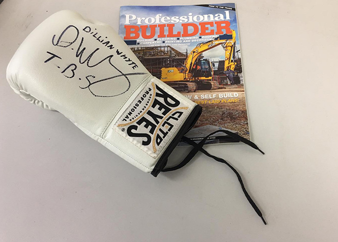 WIN! A boxing glove signed by Dillian Whyte