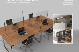 Divider screens for social distancing from Impey