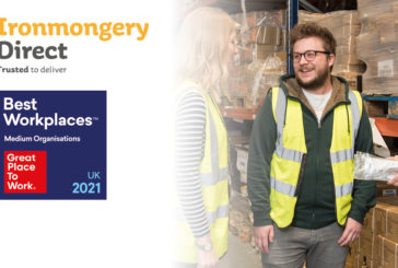 IronmongeryDirect recognised as one of the UK's best workplaces 2021