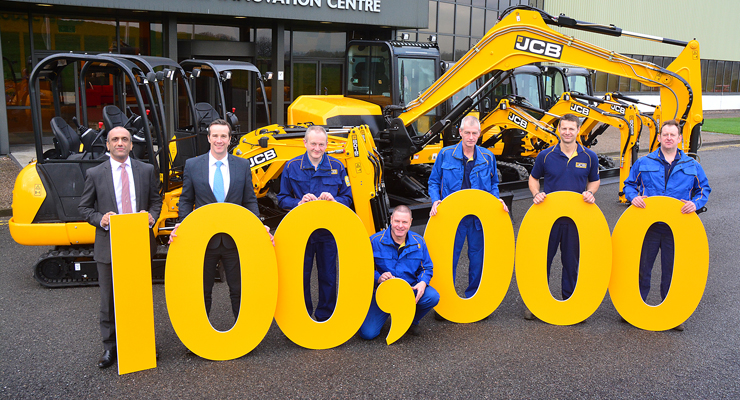 100,000TH JCB Mini Digger Produced
