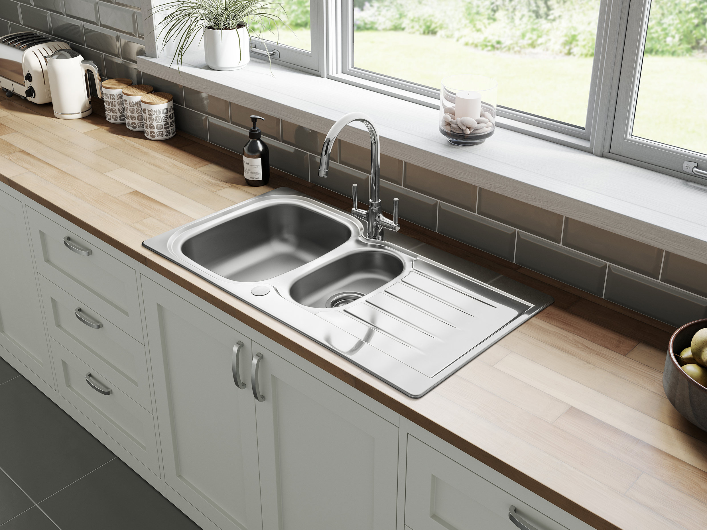 Leisure sinks introduces new eaton stainless steel collection