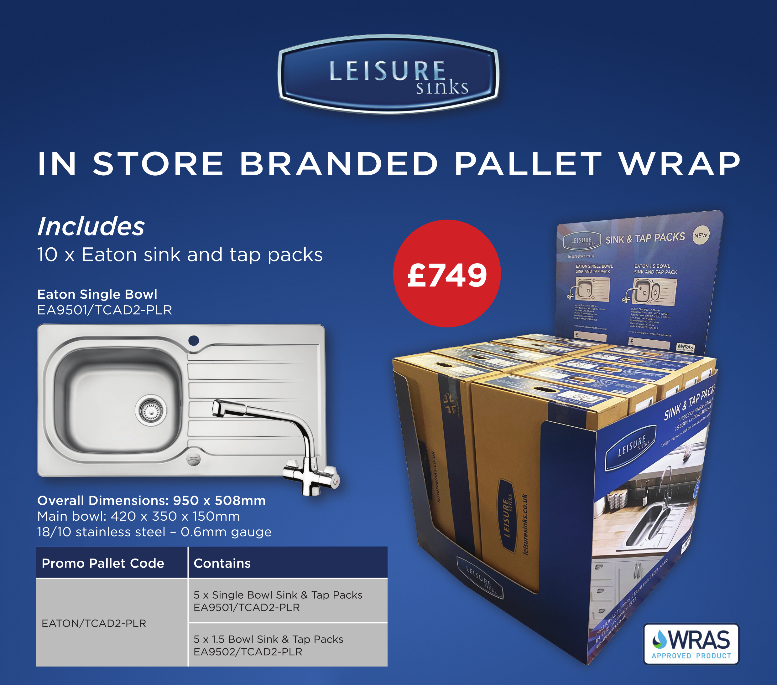 Leisure Sinks supports Builders' Merchants with new in-store branded display promotion