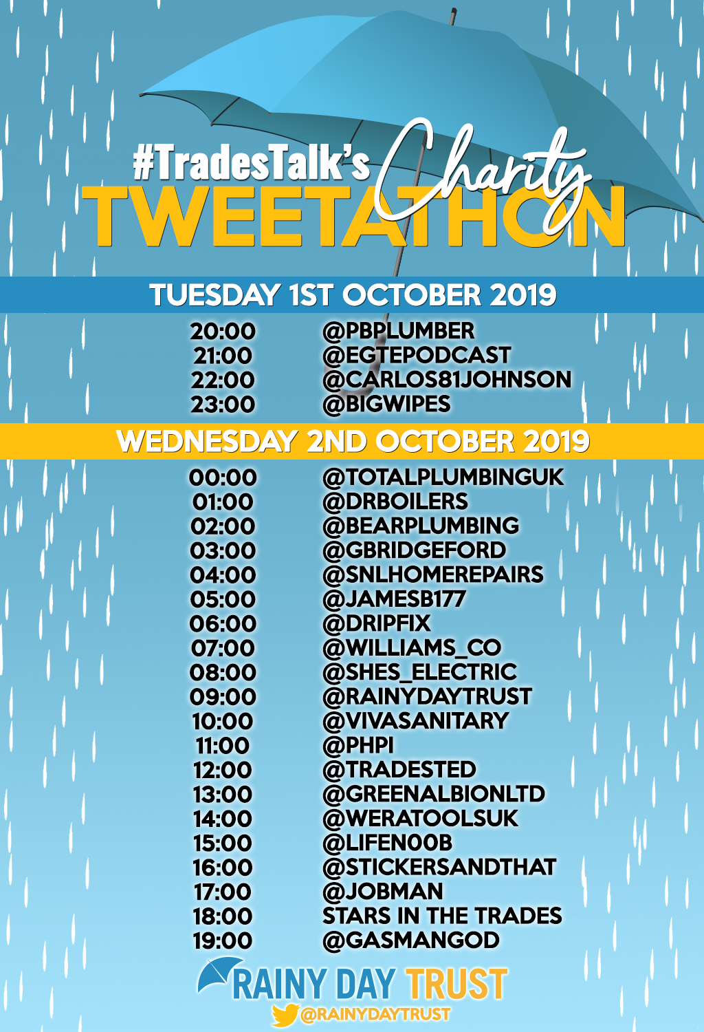 tweetathon line-up