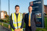 Young apprentice joins same housebuilding team as his dad
