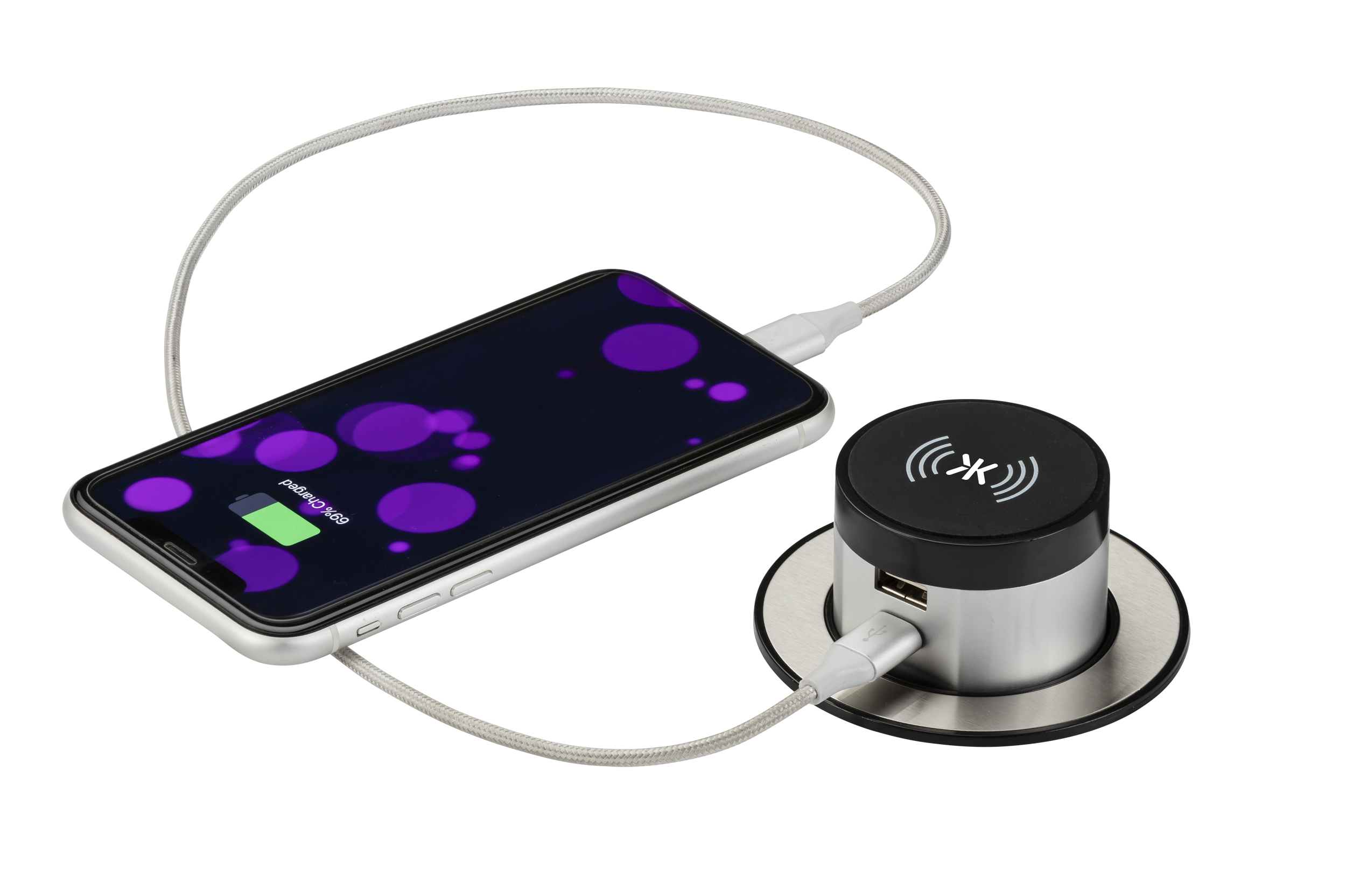 Wireless and USB charging with pop-up socket from Knightsbridge