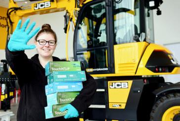 JCB donates PPE to Royal Stoke University Hospital