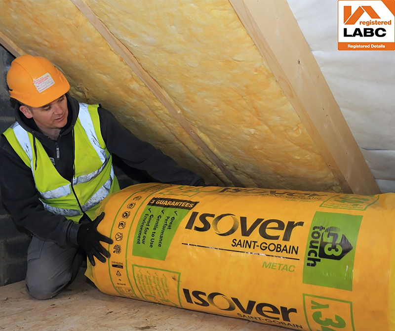 Metac pitched roof rafter solution from Isover