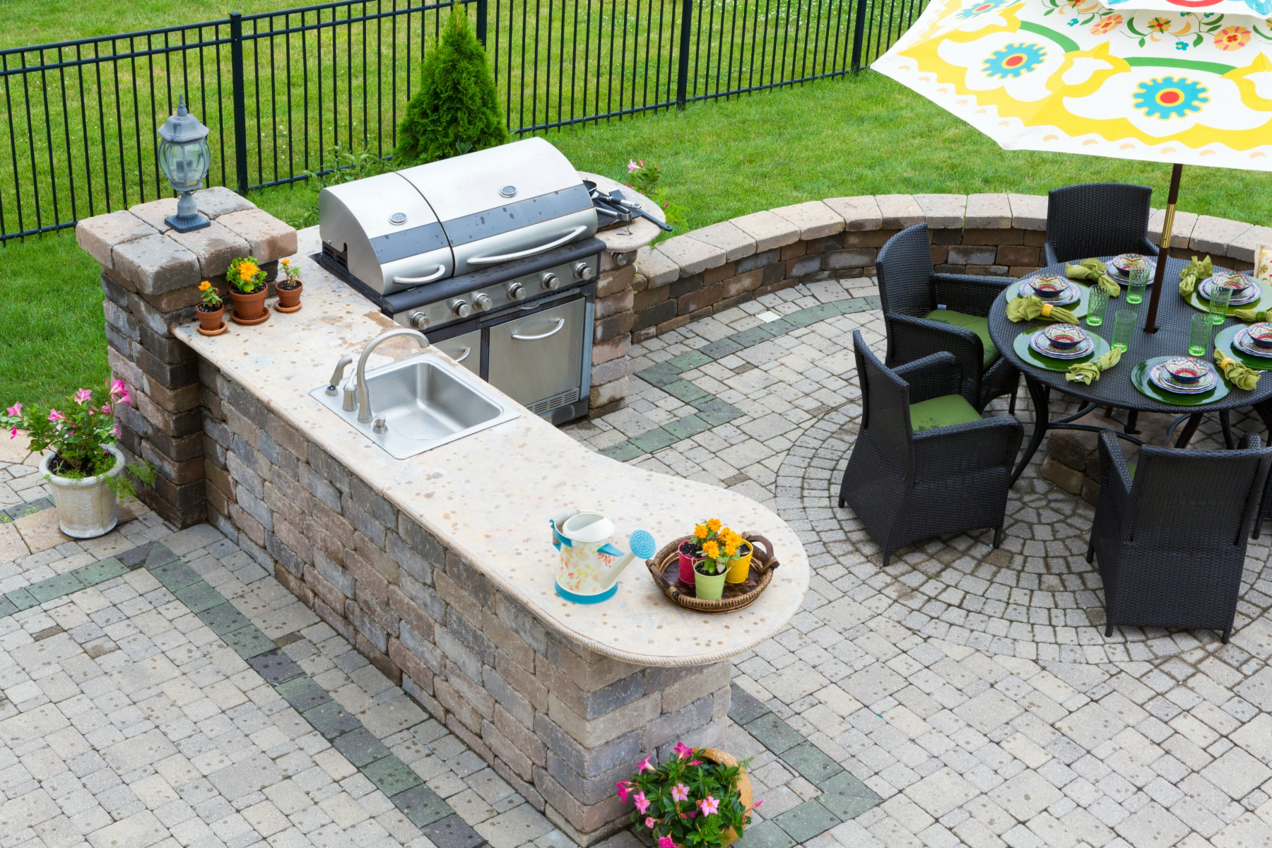 Using concrete in landscaping projects