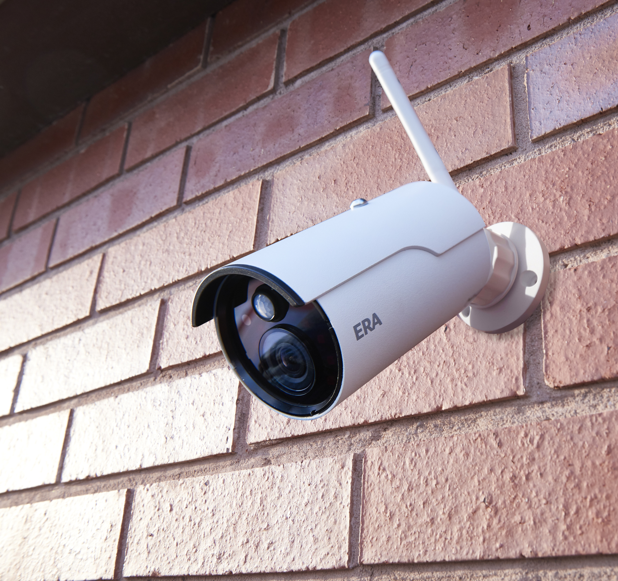 Outdoor camera on house
