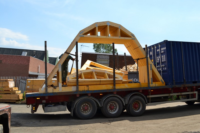 Itw Construction Products Curved Roof Truss Design