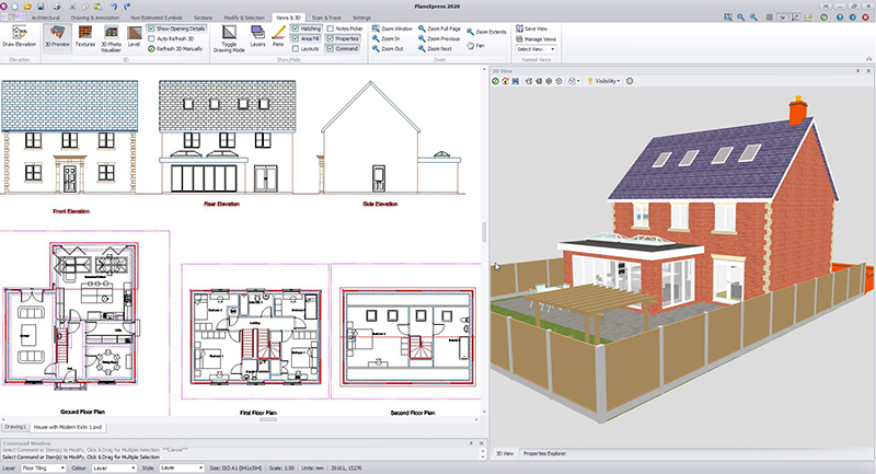 Software tool for builders for visualising building projects in 3D