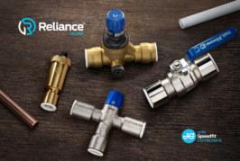 New Reliance Valves' push-fit range with JG Speedfit technology