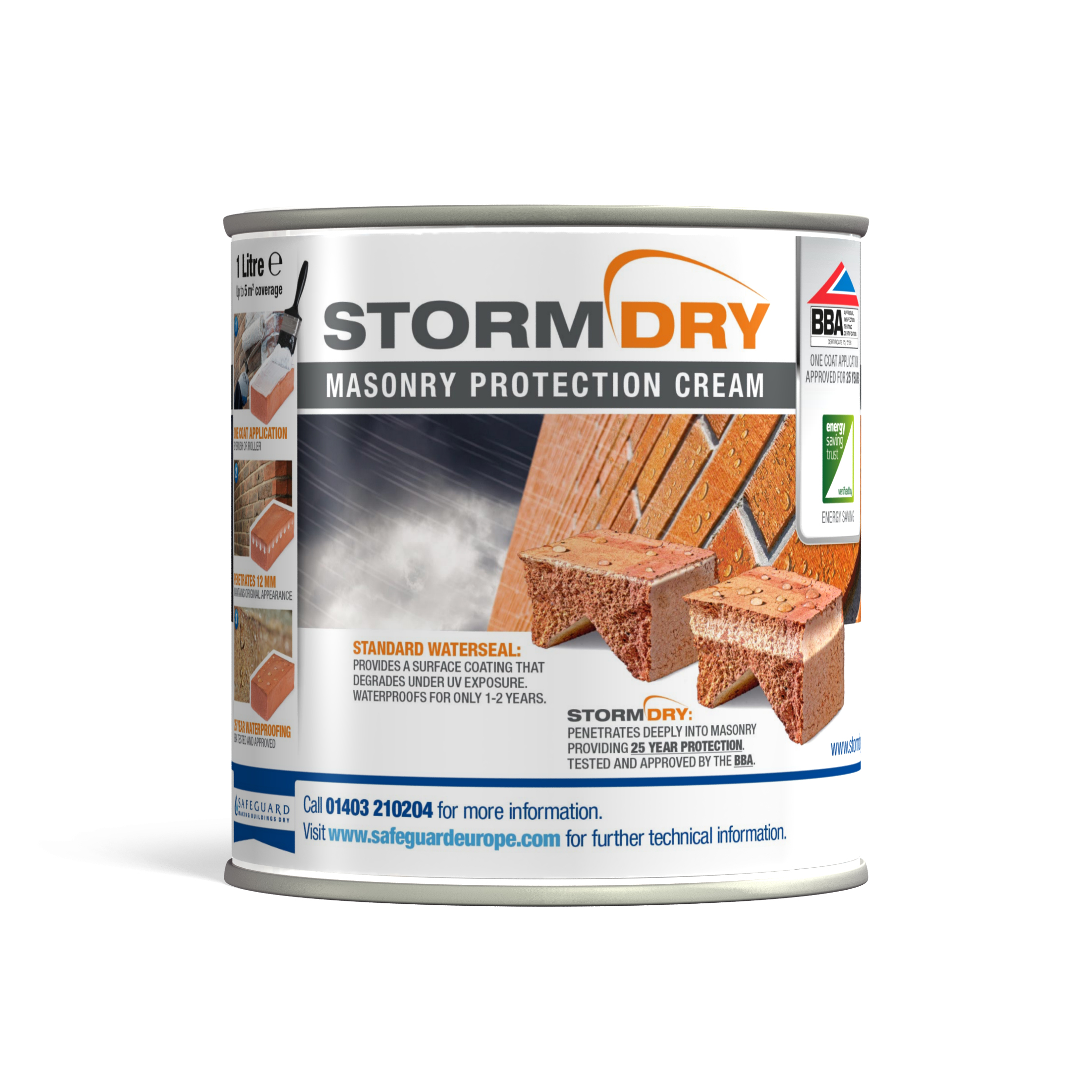 Stormdry cream available in 'on the van' option