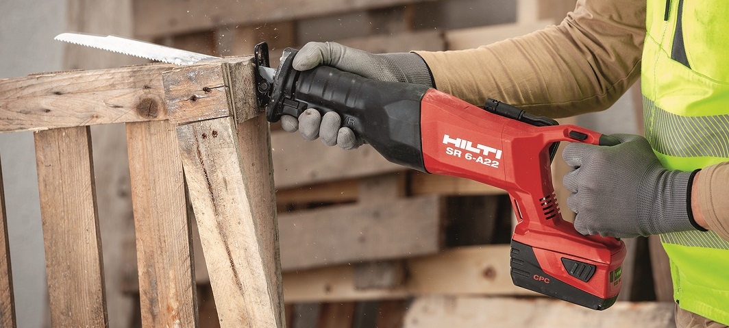 New Hilti SR 6-A22 cordless reciprocating saw