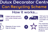 Dulux Decorator Centre hits sustainability milestone by recycling over half a million paint cans