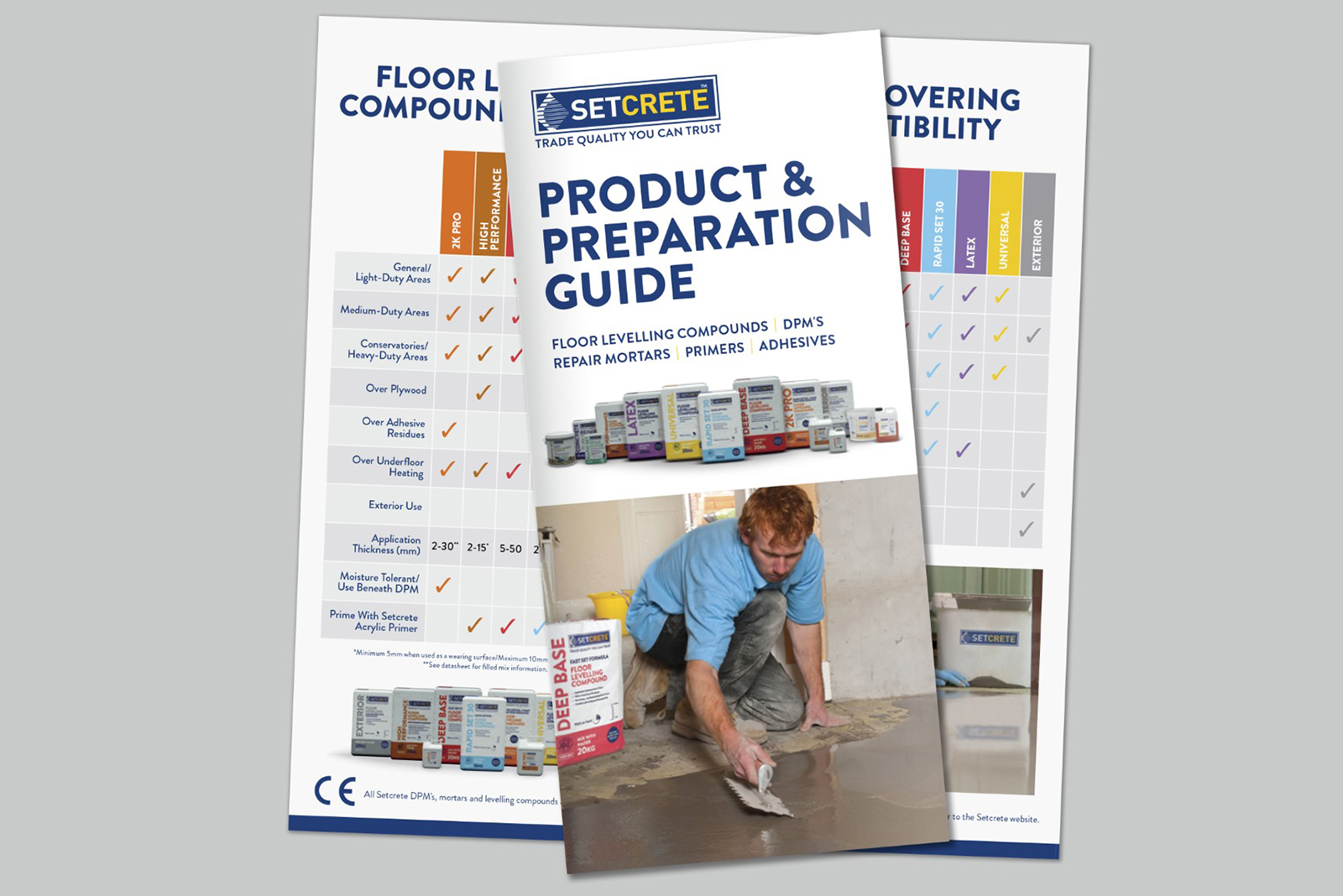 Setcrete product and floor preparation guide optimises product selection