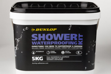 Dunlop's shower waterproofing kit