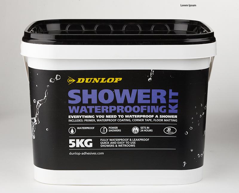 Dunlop's shower waterproofing kit