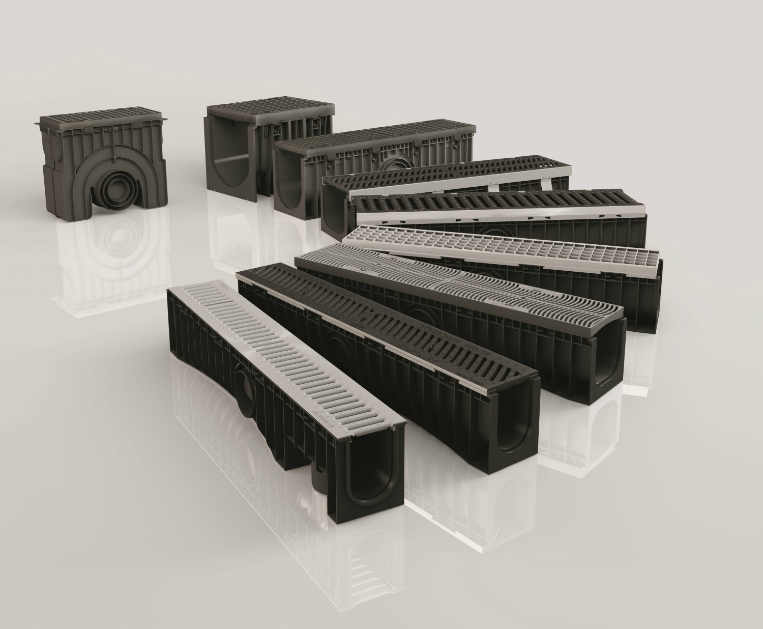 selection of Technodrain range