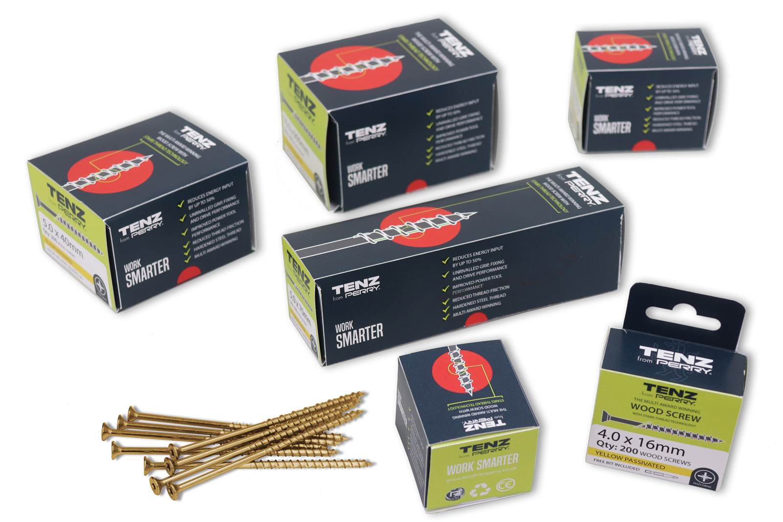 10 boxes of Tenz High Performance Woodscrews to win