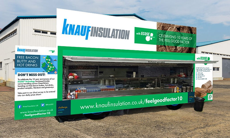 Discover ECOSE from Knauf – and get a free bacon butty