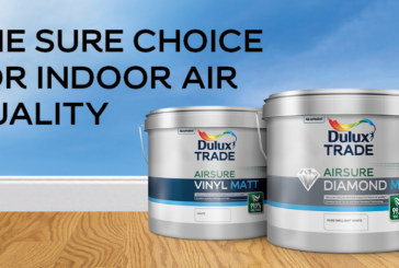 Dulux Trade introduces 99.9% VOC-free Airsure range to minimise poor indoor air quality