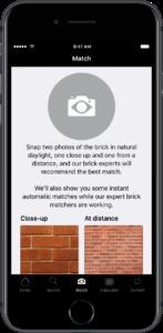 The brick matcher app